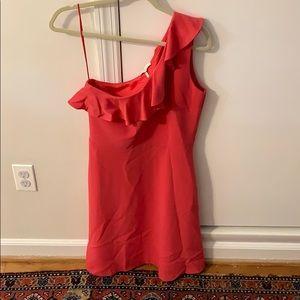 One shoulder Maje Dress